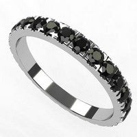 bague diamants noirs