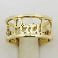 bague 3 prenoms paul or jaune 18k
