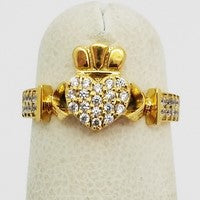 bague claddagh en or