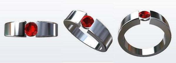 bague or blanc design