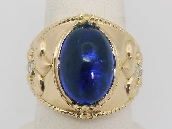 bague tanzanite or jaune 18k