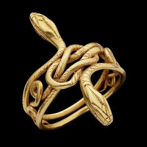 bracelet jonc serpent en or