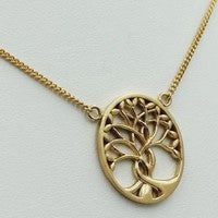 collier arbre de vie or jaune