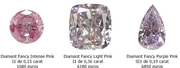 comparatif prix diamant rose