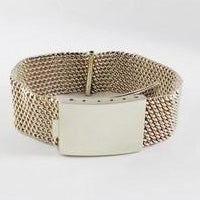 bracelet or maille milanaise large