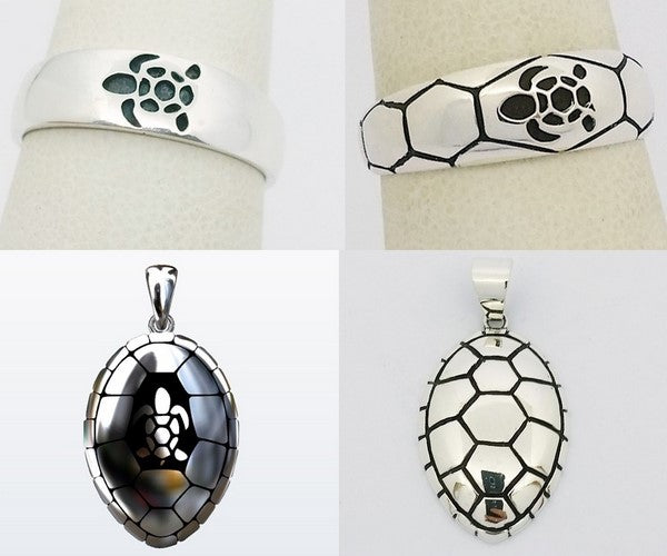 collection de bijoux tortue en argent