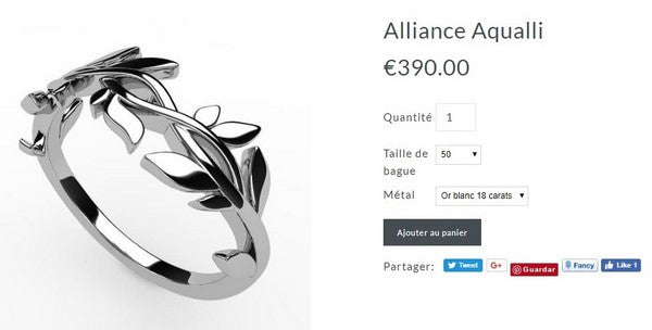 achat alliance laurier en or