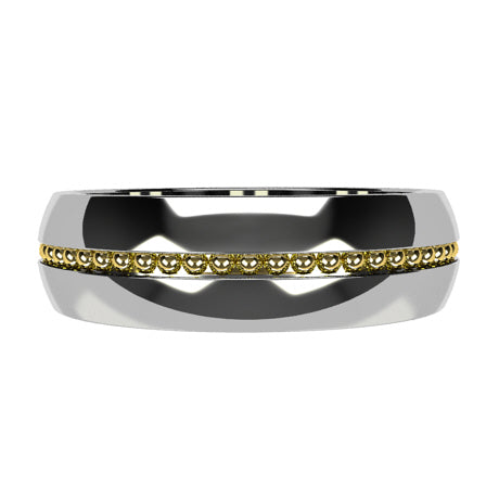 Or blanc 18 carats placage or jaune