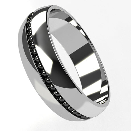 Or blanc 18 carats rhodiage or noir