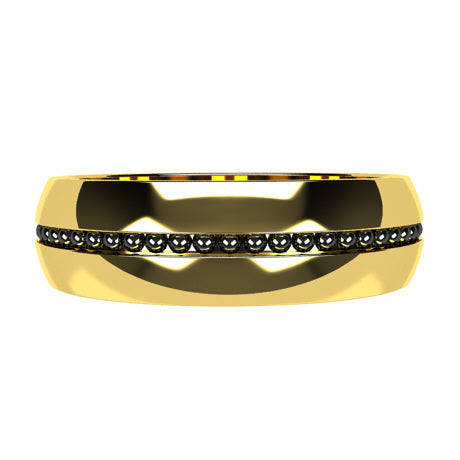 Or jaune 18 carats rhodiage or noir