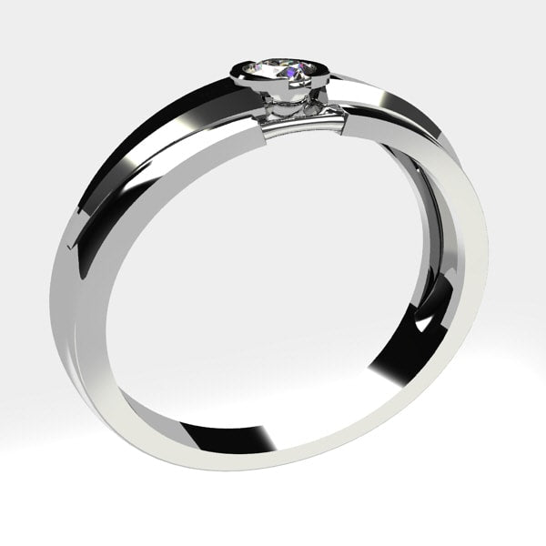 Or blanc 18 carats