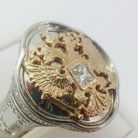 bague aigle or