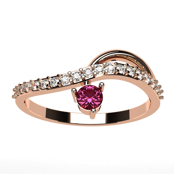 bague diamant en or rose