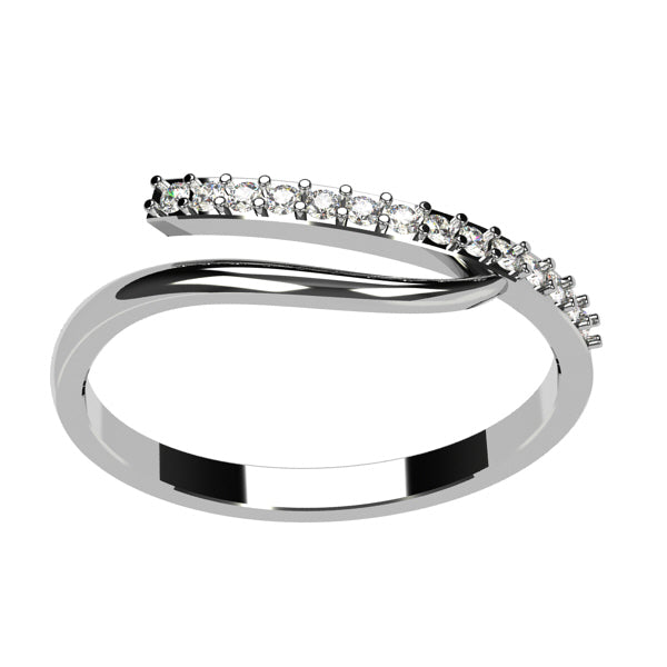 bague or blanc diamant tres fine