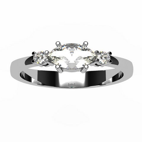Or blanc 18 carats - Diamant