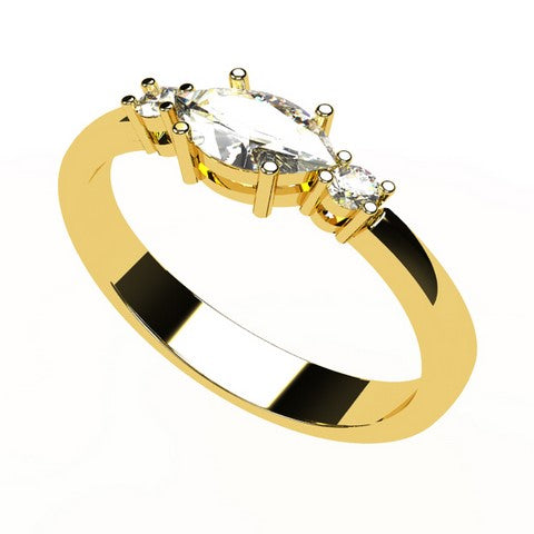Or jaune 18 carats - Diamant