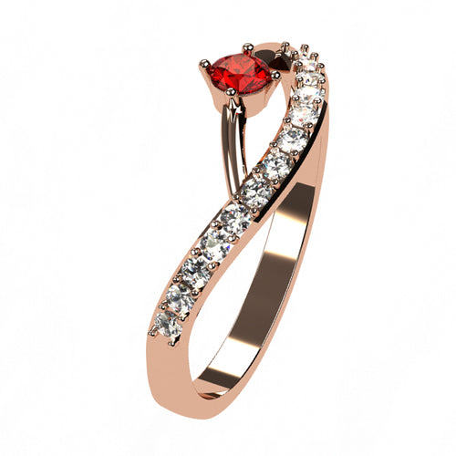 Or rose 18 carats - Rubis