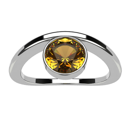 Or blanc 18 carats - Citrine