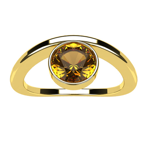 Or jaune 18 carats - Citrine