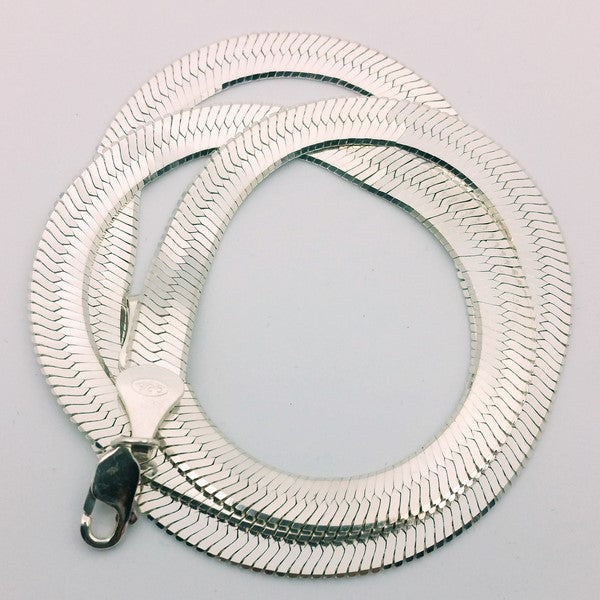 Collier maille plate