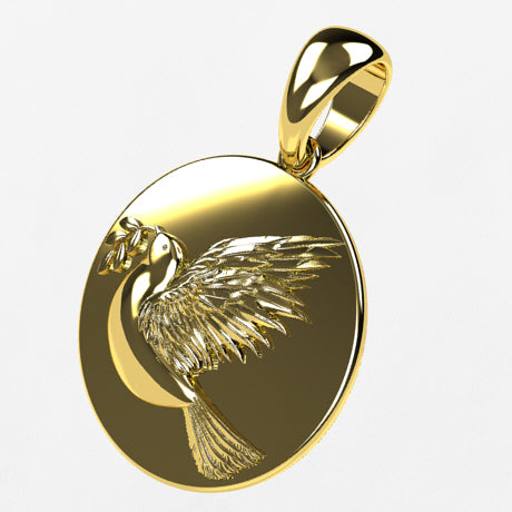 Médaille colombe - Or jaune 18 carats