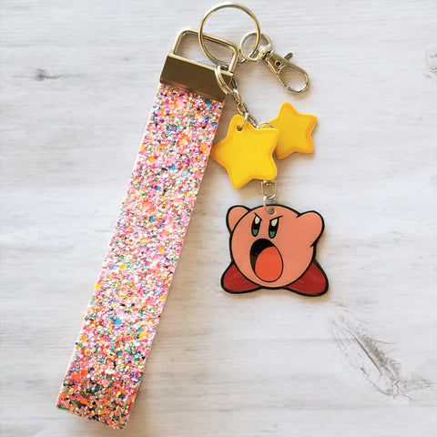 Hungry Pink Marshmallow Keyfob