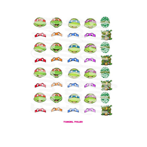 TMNT Water Slide Nail Decals