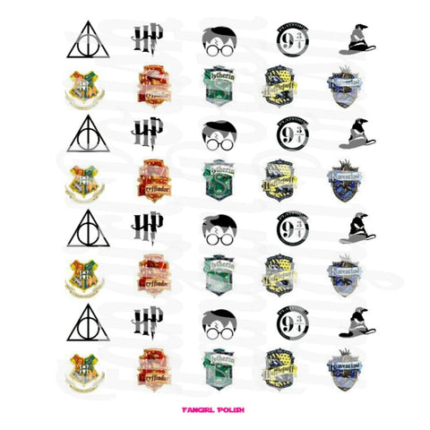 HP Water Slide Nail Decals