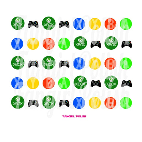 XBox Water Slide Nail Decals