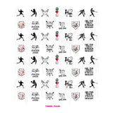 Baseball Water Slide Nail Decals