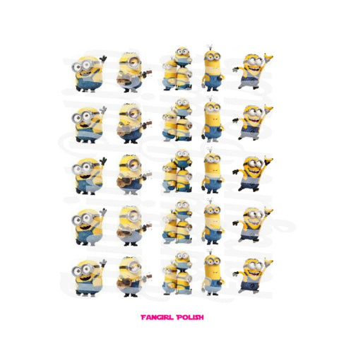Minion Water Slide Nail Decals