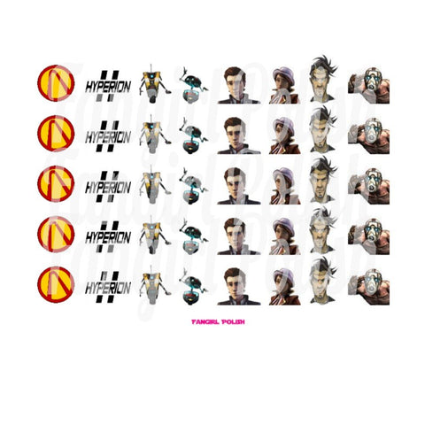 Borderlands Water Slide Nail Decals
