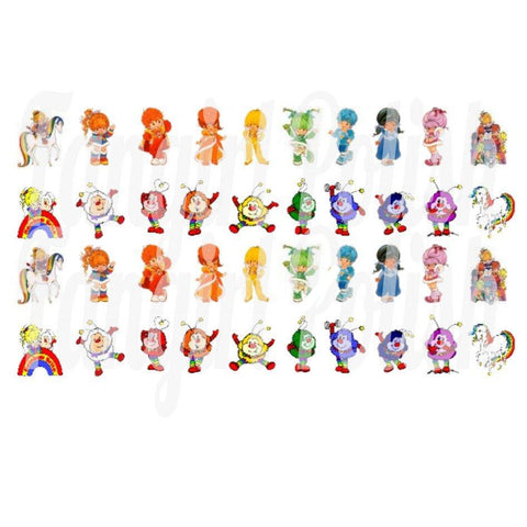 Rainbow Brite Water Slide Nail Decals