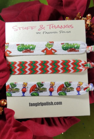 Grinch Holiday Hair Elastics