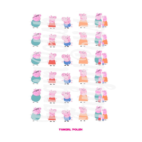 Peppa Water Slide Nail Decals