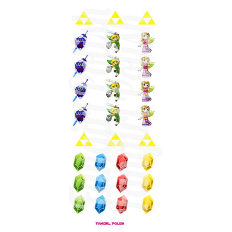 Legend Of Zelda Water Slide Nail Decals