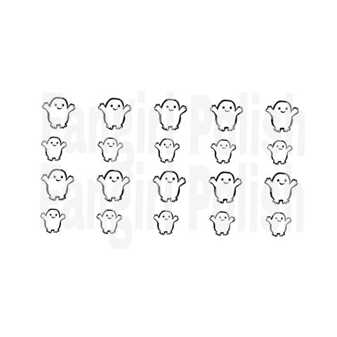Adipose Water Slide Nail Decals (white OR clear paper)
