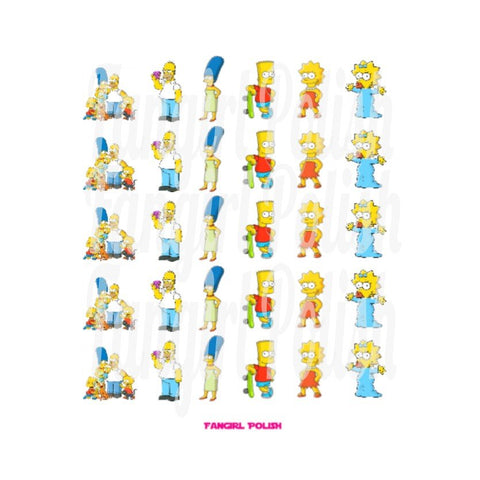 Simpsons Water Slide Nail Decals