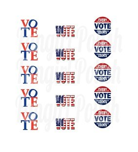 VOTE Water Slide Nail Decals