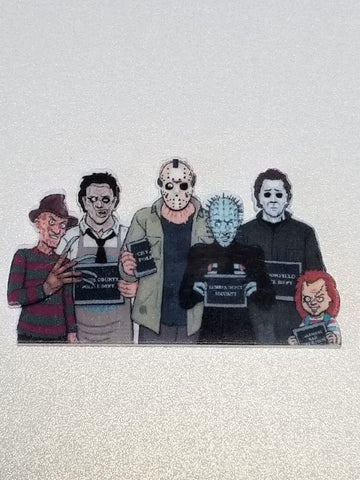 Slasher's Society Pin or Magnet