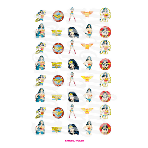 Wonder Woman Water Slide Nail Decals