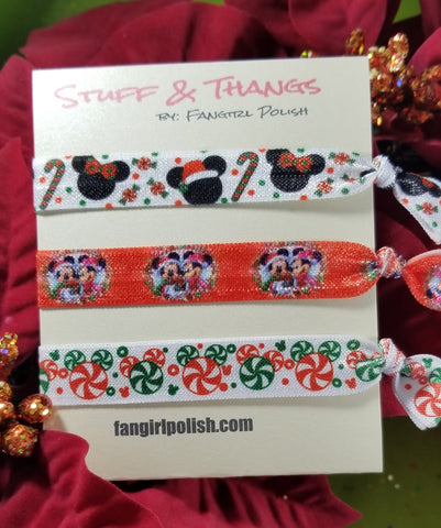 Mickey Holiday Hair Elastics