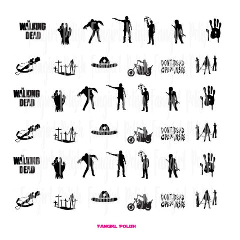 TWD Water Slide Nail Decals