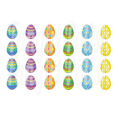 Easter Egg Water Slide Nail Decals