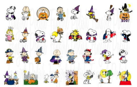 Peanuts Halloween Water Slide Nail Decals