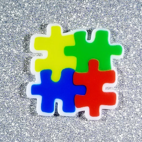 Puzzle Piece Pin or Magnet