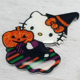 Hello Witchy Kitty magnet or pin