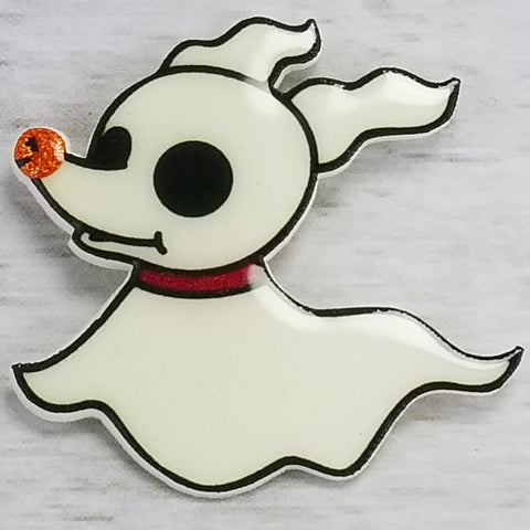 Zero (glow in the dark) magnet or pin