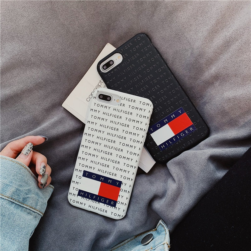 b54c1db0bed Luxury USA Soprt Brand Simple Letter Phone Case For iPhone 7 8 Plus 6 6s  Plus
