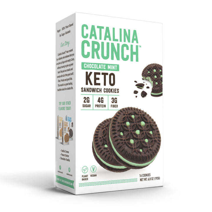Catalina Crunch mint keto cookie